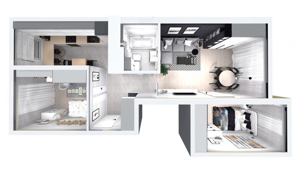 Piękne 3 pokojowe mieszkanie w Myślenicach 53 m2